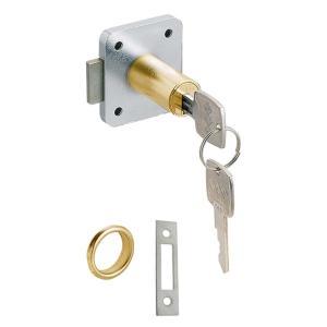 スリーナイン島野 面打シリンダーロッカー錠 取付板厚30mm 76268 10個単位|nandemo-glass-kan