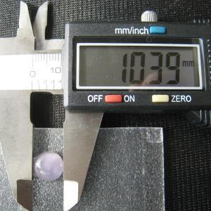 シャッター・ボタン・ぽっち 透明すみれ色 凹底面 10型 000005|nandemo-glass-kan|03