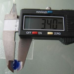 シャッター・ボタン・ぽっち 透明青色 凹底面 10型 000008|nandemo-glass-kan|05