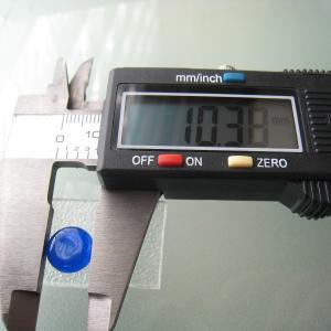 シャッター・ボタン・ぽっち 透明青色 凹底面 10型 000009|nandemo-glass-kan|03