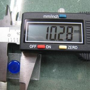 シャッター・ボタン・ぽっち 透明青色 凹底面 10型 000009|nandemo-glass-kan|04