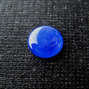 シャッター・ボタン・ぽっち 透明青色 凹底面 10型 000010|nandemo-glass-kan