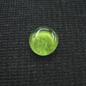シャッター・ボタン・ぽっち 透明黄緑色 平底面 10型 000012|nandemo-glass-kan