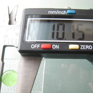 シャッター・ボタン・ぽっち 透明黄緑色 平底面 10型 000012|nandemo-glass-kan|03