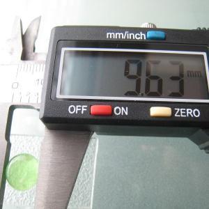 シャッター・ボタン・ぽっち 透明黄緑色 平底面 10型 000012|nandemo-glass-kan|04