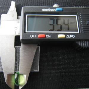 シャッター・ボタン・ぽっち 透明黄緑色 平底面 10型 000012|nandemo-glass-kan|05