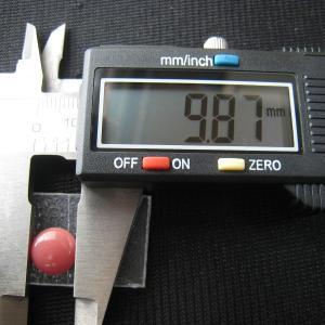 シャッター・ボタン・ぽっち 赤珊瑚色 平底面 10型 000013|nandemo-glass-kan|03