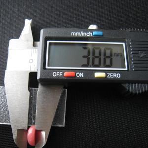 シャッター・ボタン・ぽっち 赤珊瑚色 平底面 10型 000013|nandemo-glass-kan|05