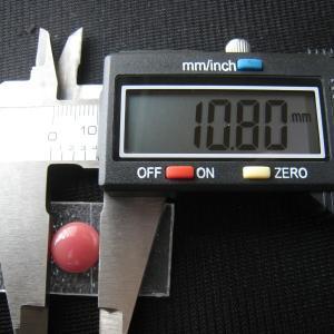 シャッター・ボタン・ぽっち 赤珊瑚色 凹底面 11型 000017|nandemo-glass-kan|03