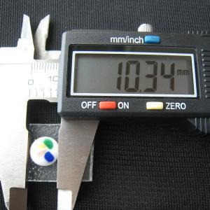 シャッター・ボタン・ぽっち 白ベース柄入 平底面 10型 000023|nandemo-glass-kan|03