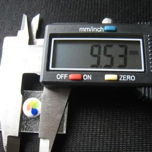 シャッター・ボタン・ぽっち 白ベース柄入 凹底面 9.5型 000024 nandemo-glass-kan 03