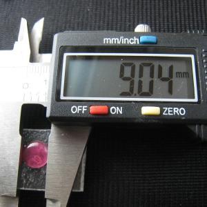 シャッター・ボタン・ぽっち 透明濃いピンク色 凹底面 9型 000029|nandemo-glass-kan|03
