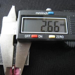 シャッター・ボタン・ぽっち 透明濃いピンク色 凹底面 9型 000029|nandemo-glass-kan|05
