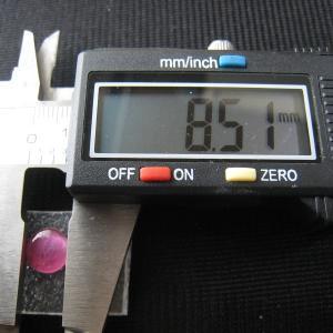 シャッター・ボタン・ぽっち 透明濃いピンク色 凹底面 8.5型 000030|nandemo-glass-kan|04