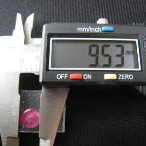 シャッター・ボタン・ぽっち 透明濃いピンク色 平底面 9.5型 000031|nandemo-glass-kan|03