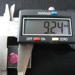 シャッター・ボタン・ぽっち 透明濃いピンク色 平底面 9.5型 000031|nandemo-glass-kan|04