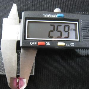 シャッター・ボタン・ぽっち 透明濃いピンク色 平底面 9.5型 000031|nandemo-glass-kan|05