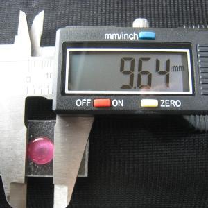 シャッター・ボタン・ぽっち 透明濃いピンク色 凹底面 9.5型 000032 nandemo-glass-kan 03