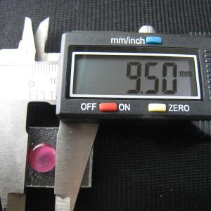 シャッター・ボタン・ぽっち 透明濃いピンク色 凹底面 9.5型 000032 nandemo-glass-kan 04