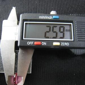 シャッター・ボタン・ぽっち 透明濃いピンク色 凹底面 9.5型 000032 nandemo-glass-kan 05