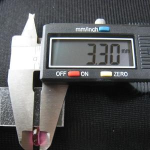 シャッター・ボタン・ぽっち 透明濃いピンク色 凹底面 9.5型 000034|nandemo-glass-kan|05