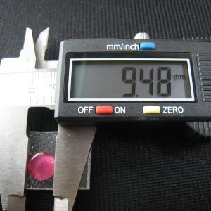 シャッター・ボタン・ぽっち 透明濃いピンク色 凹底面 9.5型 000035|nandemo-glass-kan|04
