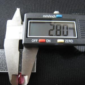 シャッター・ボタン・ぽっち 透明濃いピンク色 凹底面 9.5型 000035|nandemo-glass-kan|05