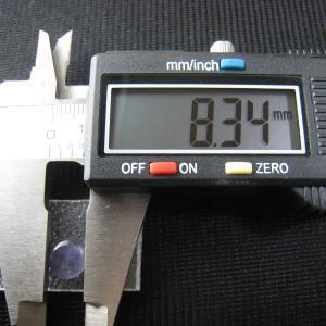 シャッター・ボタン・ぽっち 透明すみれ色 凹底面 8.5型 000036 nandemo-glass-kan 04