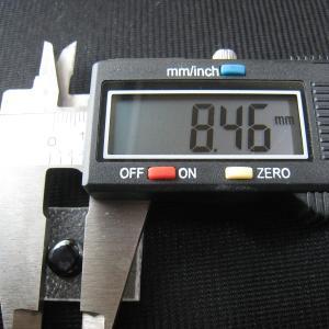 シャッター・ボタン・ぽっち メタリック黒色 凹底面 9型 000038|nandemo-glass-kan|04