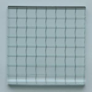 6.8mm透明ワイヤーガラス 10cm×10cm|nandemo-glass-kan