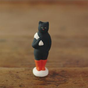倉敷意匠計画室 下川原焼のにしおゆき人形「長靴をはいた猫」|nandk-shop