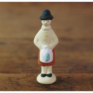倉敷意匠計画室 下川原焼のにしおゆき人形「青い鳥のチルチル」|nandk-shop