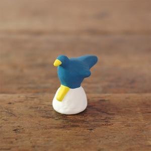 倉敷意匠計画室 下川原焼のにしおゆき人形「青い鳥」|nandk-shop