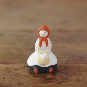 倉敷意匠計画室 下川原焼のにしおゆき人形「赤ずきん」|nandk-shop