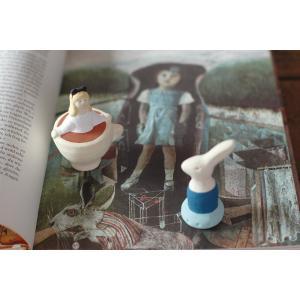 倉敷意匠計画室 下川原焼のにしおゆき人形「不思議の国のアリス」「アリスの白うさぎ」2点セット|nandk-shop