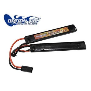 OPTION No.1 GB-0022M HighPower リポバッテリー 7.4V 1300mAh|naniwabase