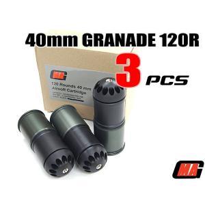 エアガン グレネードカード 3個セット MAG社製120発装填40mmガスカート|naniwabase
