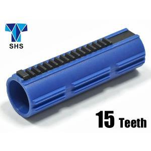 SHS製 電動ガン用 強化ピストン フルティース 金属歯15枚 ポリカーボネート強化樹脂製|naniwabase