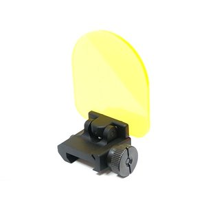 ドットサイト スコープ 対応 レンズプロテクター フリップアップ式 クリアレンズ & イエローレンズ 2枚セット ポリカーボネート 20mmレイル対応|naniwabase
