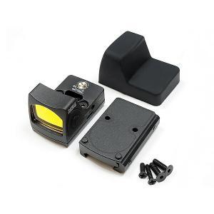 小型 ドットサイト Trijiconタイプ RMR ドットサイト レプリカ リアル刻印 スイッチモデル 20mmレイル&GLOCKマウント付|naniwabase