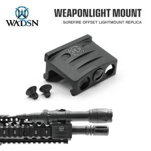 SUREFIRE タイプ RM45 オフセット ウェポンライトマウント WD02002-BK-LOGO WADSN 製|naniwabase