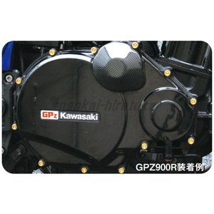 C.F.POSH 24Kメッキステンレスクラッチカバーネジセット GPZ900R ZRX1100 485801 CFポッシュ nankai-hiratsuka