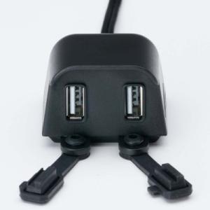 NANKAIナンカイ 電源くん4 バイク用USB電源取り出し USB端子をWで装備 DC-1204|nankai-hiratsuka