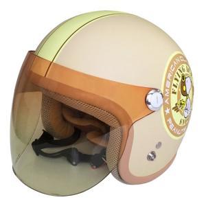 【SNOOPY・スヌーピー】【レディース】SNJ-44 ジェットヘルメット バイカーズシスターズ マットアイボリー|nankai-kyoto