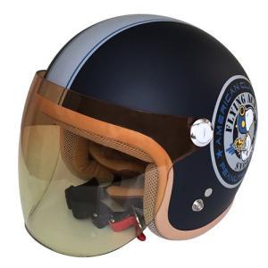 【SNOOPY・スヌーピー】【レディース】SNJ-45 ジェットヘルメット バイカーズシスターズ マットネイビー|nankai-kyoto