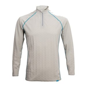 【FREEZE TECH・フリーズテック】冷却インナーシャツ 長袖/ZIP ホワイト【レディースサイズあり】|nankai-kyoto