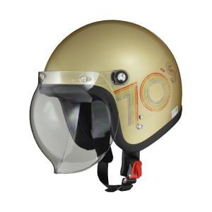 【LEAD・リード工業】LEAD MOUSSE リード ムース ジェットヘルメット 70'Sゴールド|nankai-kyoto