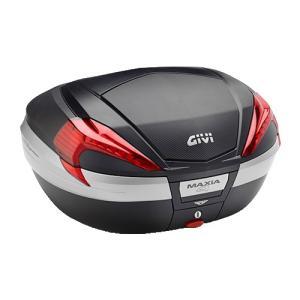 【GIVI・ジビ(ジヴィ)】モノキーケース 56Ltype V56MAXIA4シリーズ (ストップランプ無し)未塗装ブラック(カーボン調パネル)(92356)|nankai-kyoto
