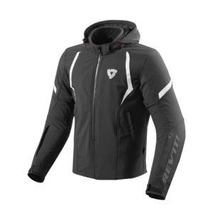 【REV'IT・レブイット】BURN バーン テキスタイルジャケット FJT234-0010 ブラック/ホワイト|nankai-kyoto