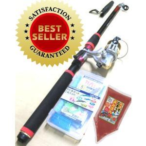 釣り竿セット サビキセットプロマリン わくわく サビキ釣りセット DX 300cm エサセット|nankiya